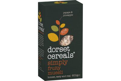 Dorset Cereals Simply Fruity Muesli: 18.6g sugar per serve (with milk)