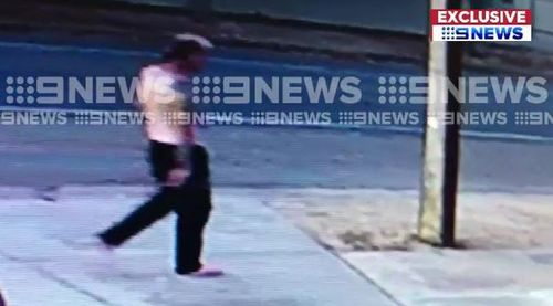 CCTV obtained by 9NEWS shows Kirchner walking near Ms Rothe's home after the murder took place.