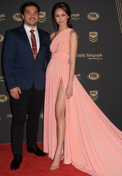 Brandon Smith and Savannah Syred at the 2019 Dally M Medal