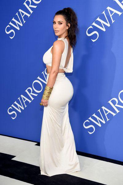 Kim Kardashian West in Rick Owensat the 2018 CFDA Awards