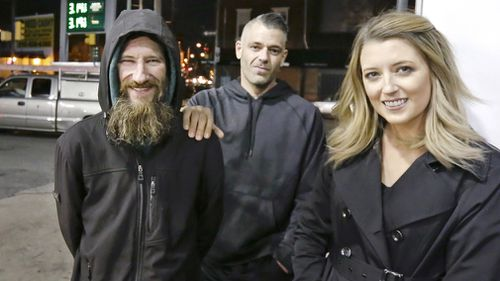 A New Jersey couple, Kate McClure and Mark D'Amico, and a homeless man, Johnny Bobbit Jr., are accused of creating a false GoFundMe crowdfunding story that ultimately raised US$400,000 in fraudulent funds.