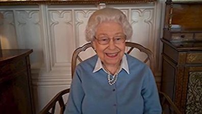 Queen on a video call