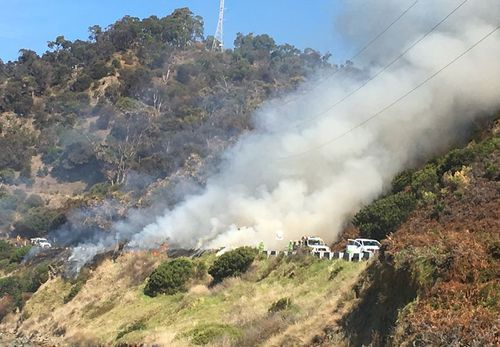 The controlled burn will go through the afternoon. (Victoria Police)