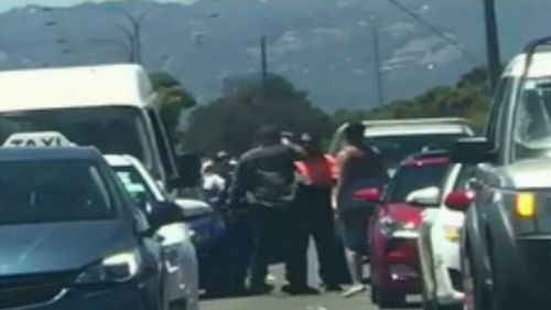 A frightening road rage attack has taken place in Adelaide.