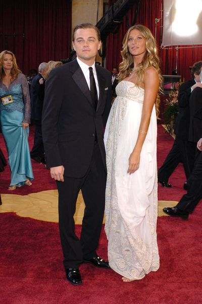 Leonardo DiCaprio and Gisele Bundchen in Christian Dior at the 2005 Academy Awards