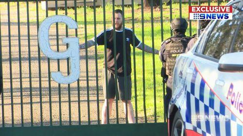 Police arrested Mr Hogg after he surrendered to officers.