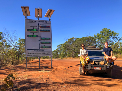 Couple on Central Arnhem Road, in the Northern Territory