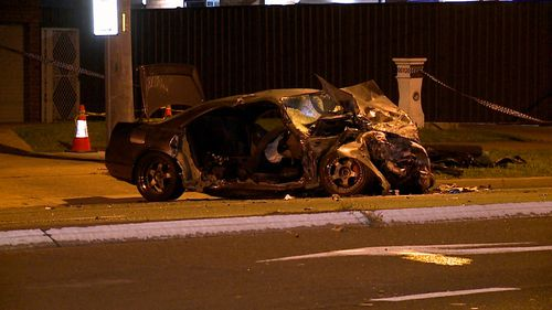 Two people suffered serious injuries after their cars collided in Sydney's West. Images show both vehicles smashed to pieces.