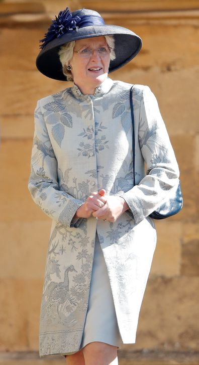 Lady Jane Fellowes attends Harry and Meghan's wedding in 2018.