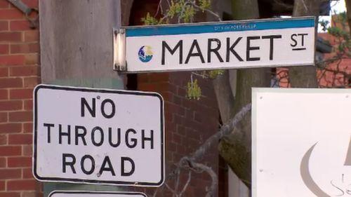 The attack unfolded near Market Street in St Kilda. (9NEWS)