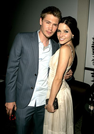 Chad Michael Murray and Sophia Bush during House of Wax Los Angeles Premiere in 2005.