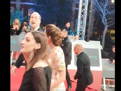 Prince William's priceless reaction to fan's comment on the red carpet