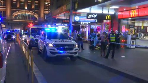 Two teens charged after alleged stabbing outside Melbourne CBD McDonald's