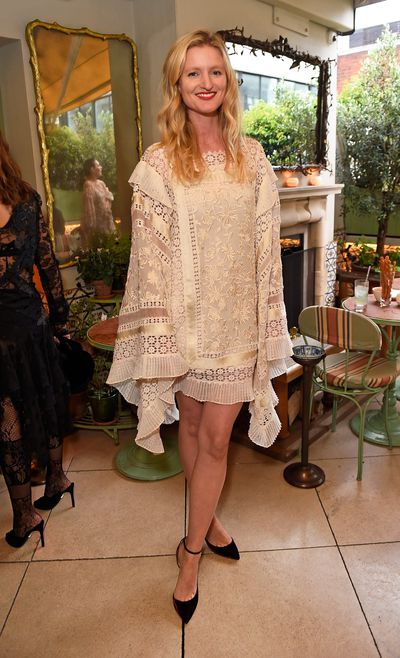 Candice Lake in Zimmermann, celebrating the launch of Zimmermann's London flagship store in Mayfair at the private members' club 5 Hertford St, London.