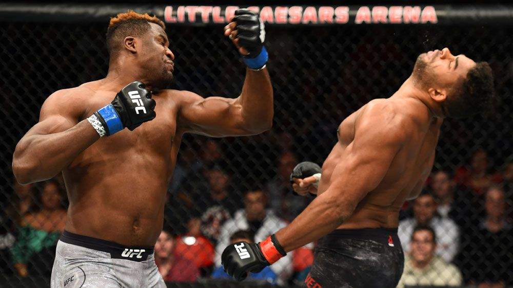 Francis Ngannou and Alistair Overeem.