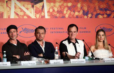 Brad Pitt, Leonardo DiCaprio, Quentin Tarantino and Margot Robbie