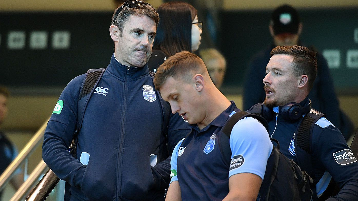 Brad Fittler arrives back with the NSW team