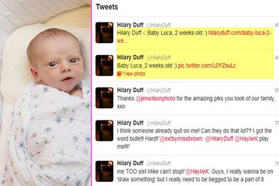 In March, Hilary Duff introduced her insanely cute baby boy, Luca, to the world via Twitter.
