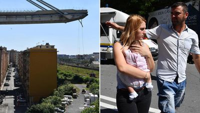 Residents near Genoa bridge evacuated amid fears of new collapse