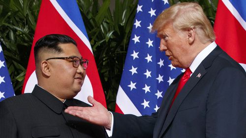Kim Jong-un and Donald Trump first met in Singapore last June.