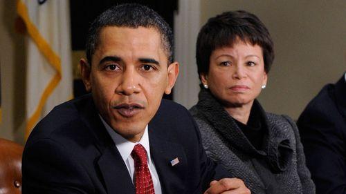 Former Barack Obama adviser Valerie Jarrett was the target of Barr's controversial tweet. (AP).