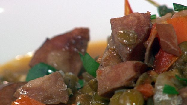 Lentil & kransky stew