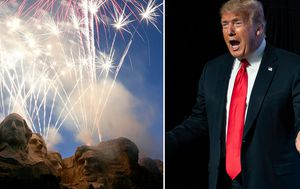 Donald Trump's Fourth of July Mount Rushmore trip draws real and figurative fireworks