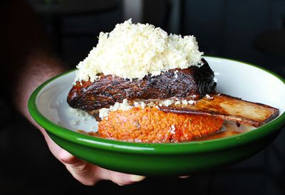 """Recipe: <a href=""""http://kitchen.nine.com.au/2017/03/13/16/49/butterflied-lamb-leg-with-quinoa-tabouli"""" target=""""_top"""" draggable=""""false"""">Sth Central's 12-hour short rib of beef</a>"""