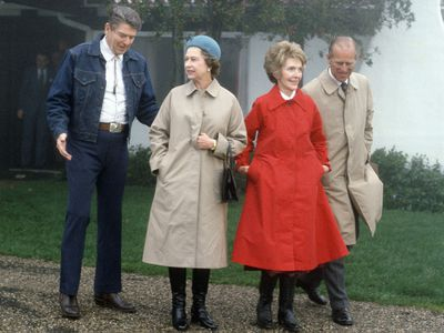 The Queen and Prince Philip with the Reagans, 1983