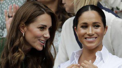 Kate and Meghan Royal Box Wimbledon 2019.