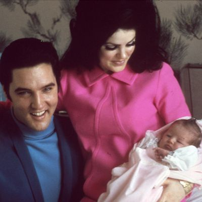 <p>Elvis Presley and Lisa Marie Presley</p>