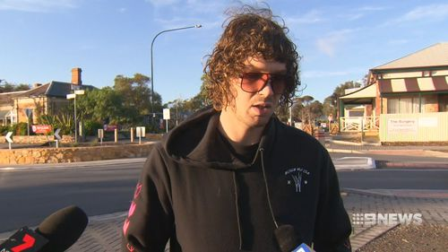Todd Chenda advertised his car on Gumtree, but when he met two potential buyers they pulled a machete on him. Picture:9NEWS