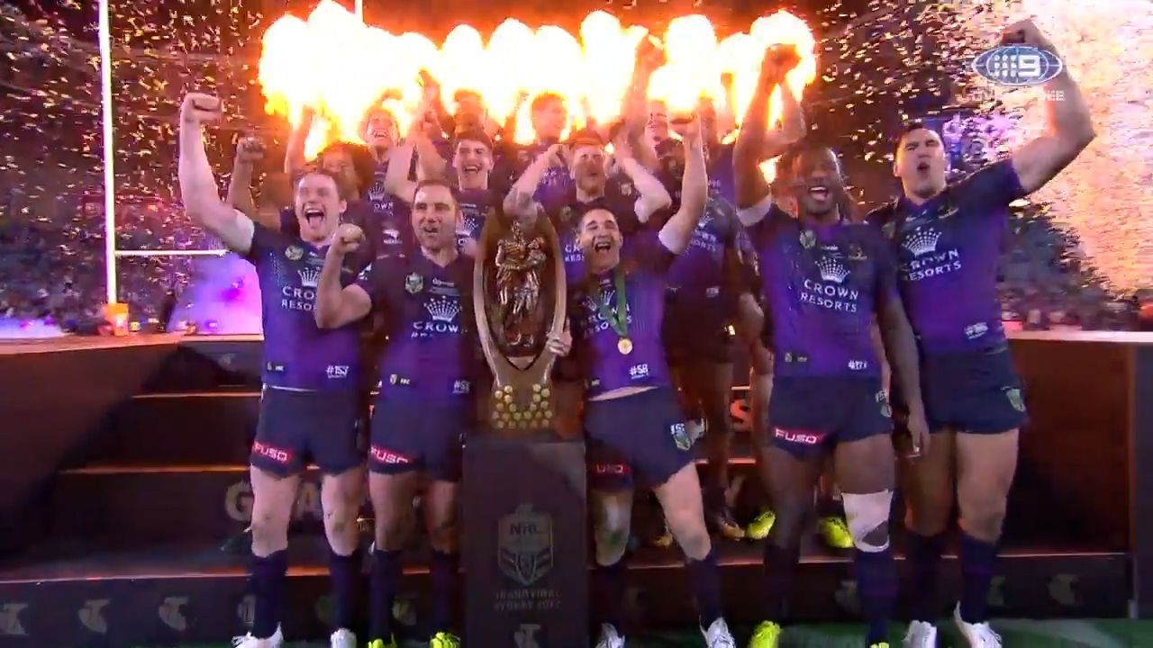 Storm celebrate NRL grand final victory