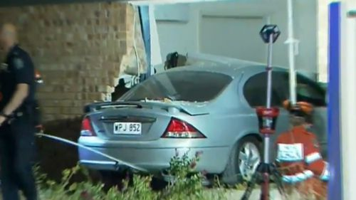 The car smashed into the Munno Parra West home last night.