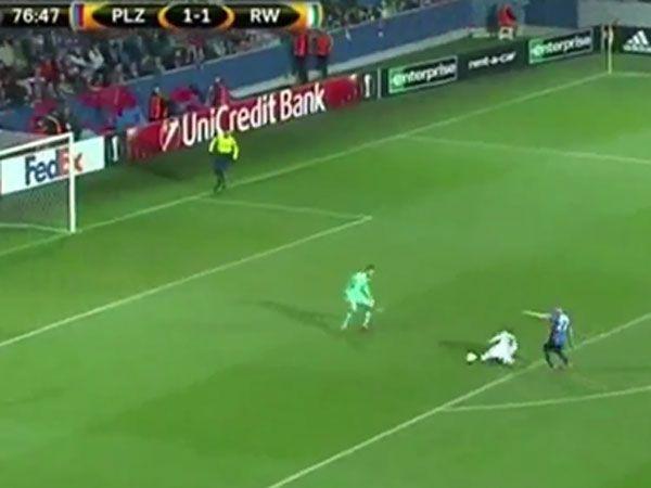 Austrian footballer scores luckiest goal ever