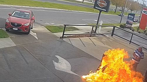 Man saves Harley-Davidson store from alleged arson attack