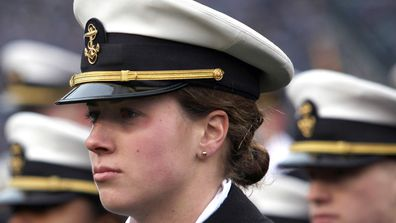 US Navy rules women can now wear lock and ponytail hairstlyes, instead of buns. (AP)