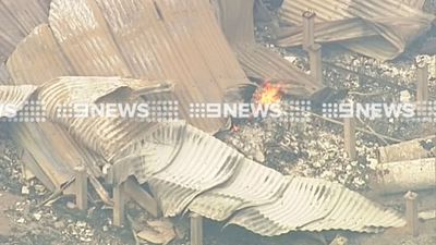 Fire ripped through the home in Cobaw. (9NEWS)