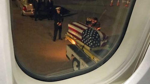 Plane passengers reduced to tears as weeping parents meet daughter's casket