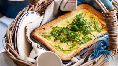 Baked savoury ricotta tart
