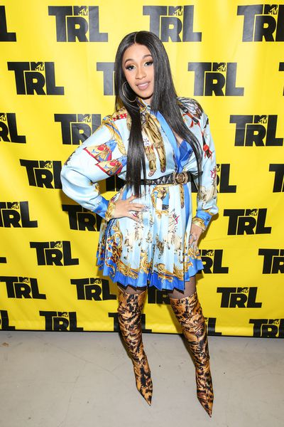 Cardi B at the MTV Studios in new York on April 11, 2018