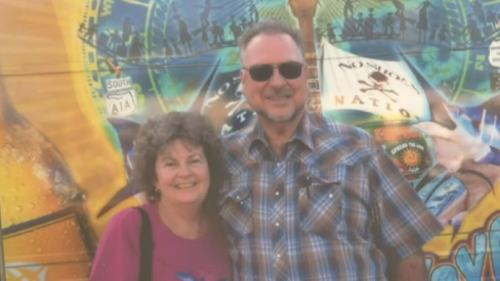 Terri Nelson died last week from her injuries and now her husband Don has collection agencies chasing him for debts the thief has built up.
