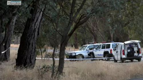 Police taped off the scene yesterday. (Supplied)