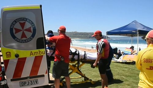 At Palm Beach on the northern beaches a man in his 60s was dumped in the surf. He couldn't move, and had to be rescued.