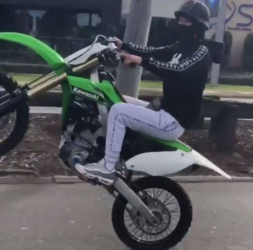 Police have posted footage of a hoon motorbike rider in Seven Hills. Picture: NSW Police