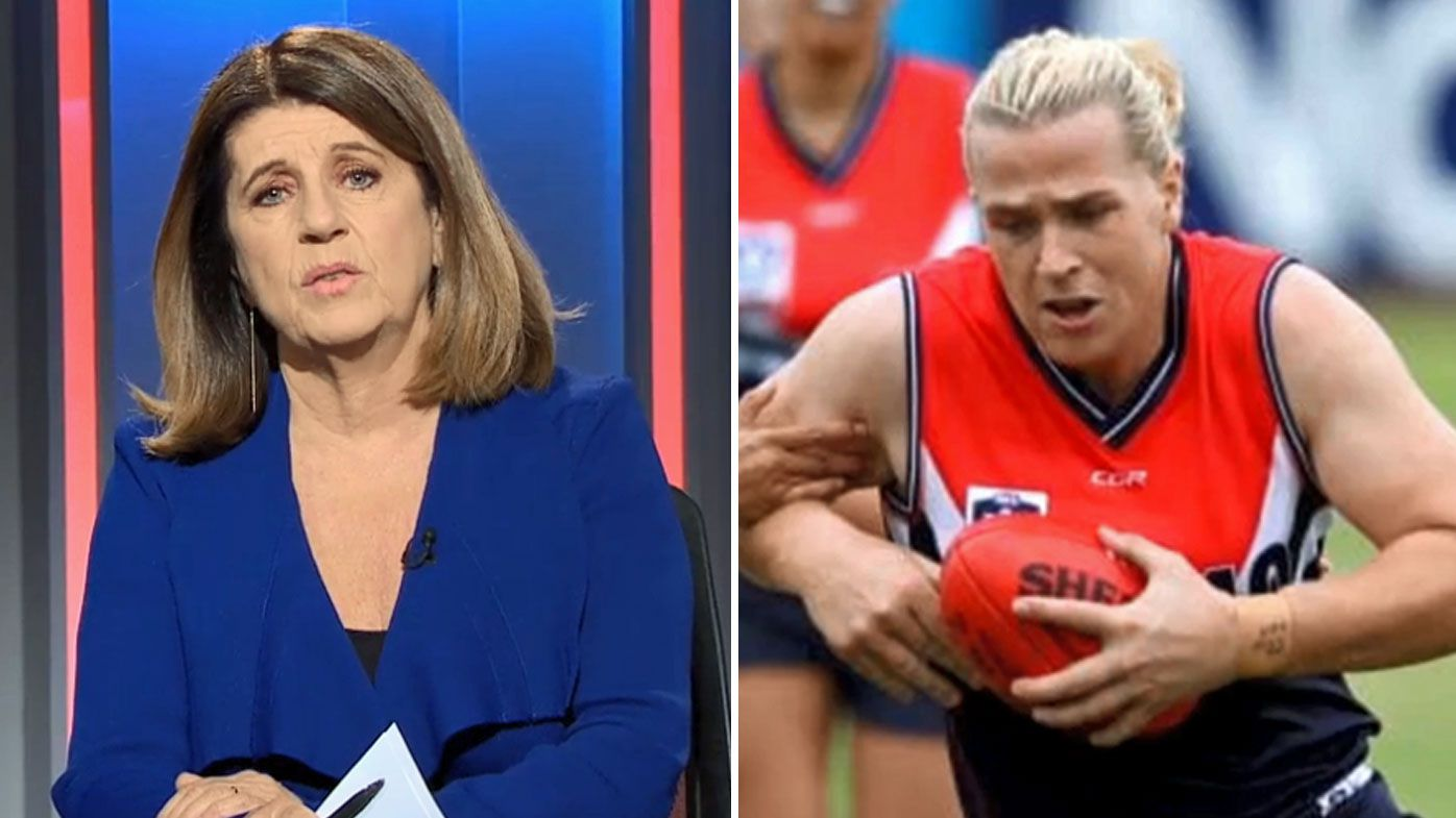 Transgender athlete Hannah Mouncey should giver up on her dream of playing football, says Caroline Wilson and Chris Judd