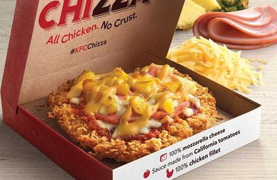 KFC Singapore invents 'Chizza'pizza with fried chicken crust