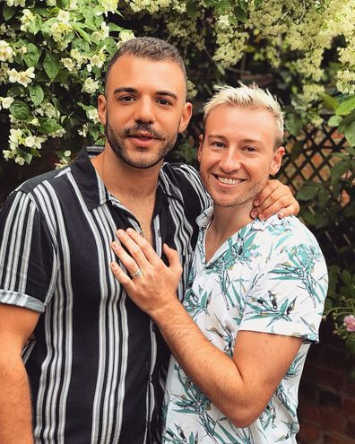 Luke Rutherford and Matthew Mitcham planning their wedding