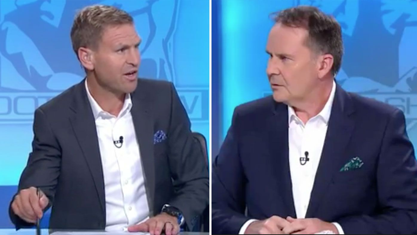 'I'm happy for the game to continue today': Kane Cornes and Tony Jones debate if AFL should continue playing following travel ban
