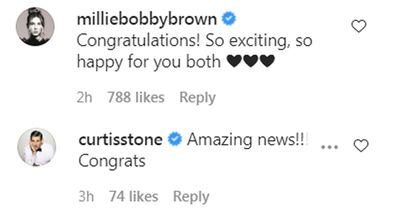 Millie Bobby Brown Curtis Stone react to Bindi and Chandler baby news
